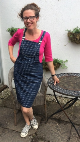 Denim stars Tilly and the Buttons Cleo Dress