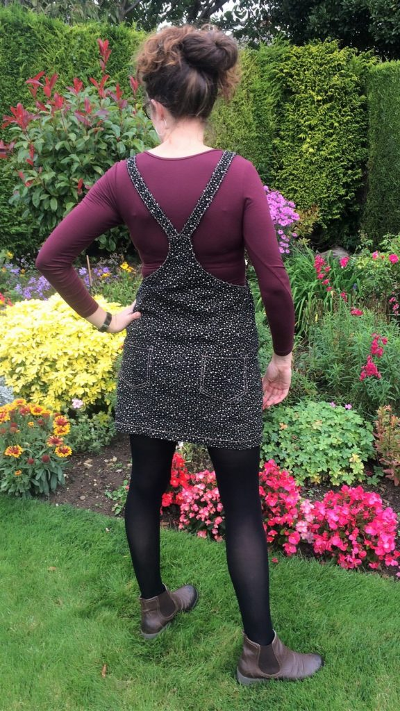 Tilly and the Buttons Cleo corduroy mini pinafore dress