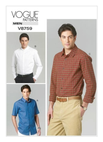 V8759 Vogue Men's dress shirt
