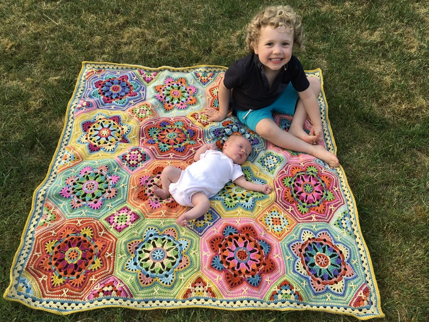 The Eastern Jewels Heirloom Crochet Blanket… and the baby I made it for!