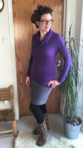 Seamwork Neenah cowl top in John Kaldor Isabella wool jersey #1