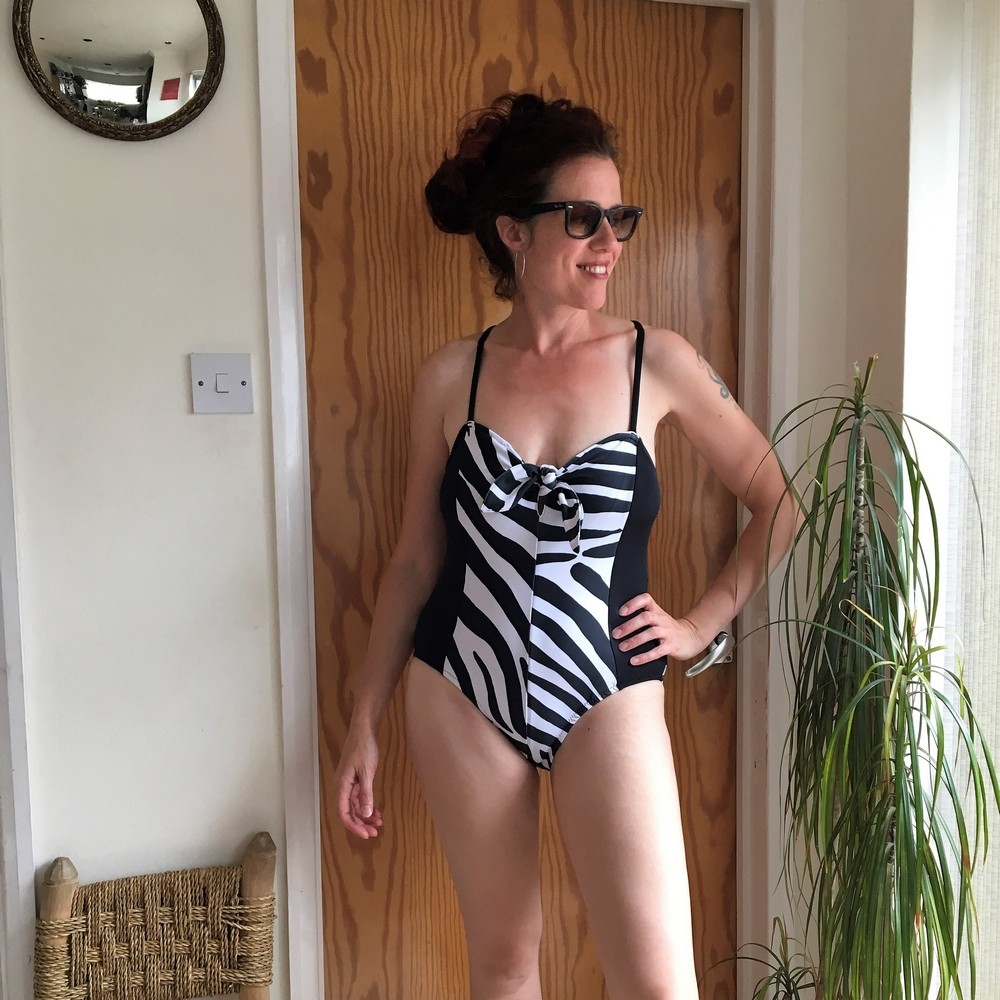 Butterick B6358 zebra print swimsuit