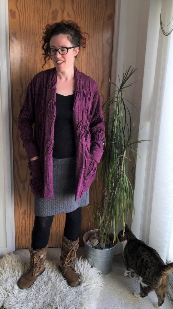 Seamwork Oslo cardigan in textured sweater knit