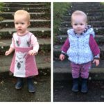 Llama panel jersey toddler dress and joggers