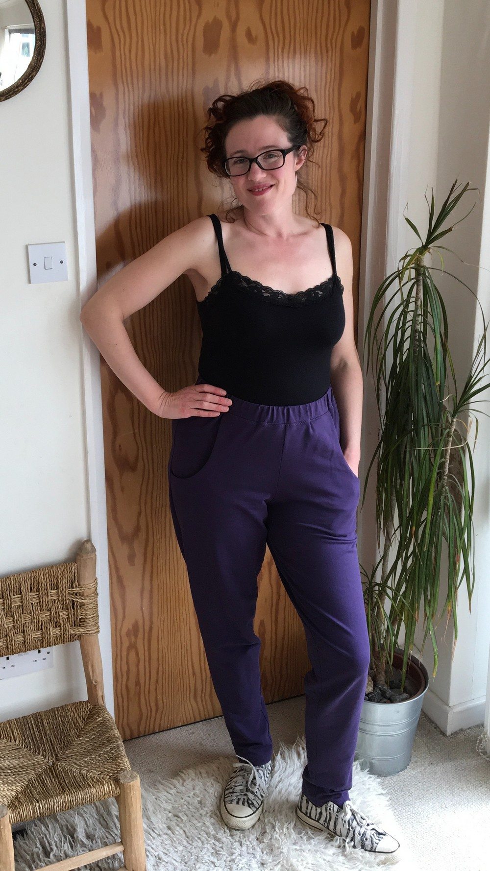 Monsal Lounge Pants in purple French terry
